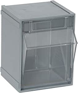 White Case of 9 Quantum QTB409 Clear 2-Inch by 2-1//2-Inch by 2-3//4-Inch Tip Out Bin System