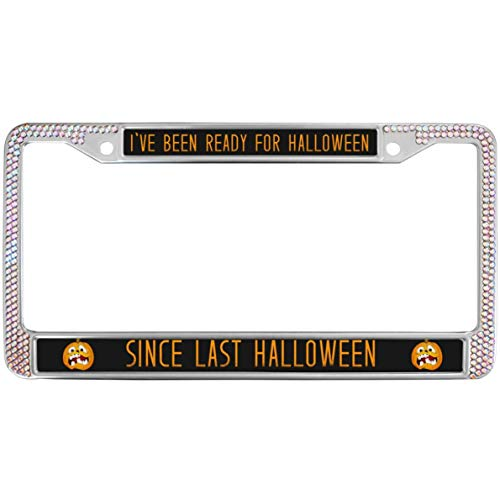 GND License Plate Frame Personalized Chrome Metal Car License Plate Frame Halloween License Plate Frame Place on Any Car or Vehicle