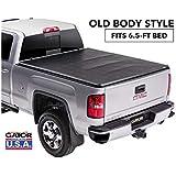 "Gator ETX Soft Tri-Fold Truck Bed Tonneau Cover | 59110 | Fits 2014 - 2018, 2019 Ltd/Lgcy Chevy/GMC Silverado/Sierra 1500 6'6"" Bed | Made in the USA"