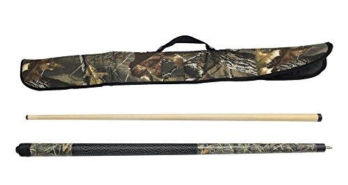 Signature Pool Cue Stick (Viper Realtree 19 oz Max 4 Camo Cue with Soft Hardwoods HD Camo Case)