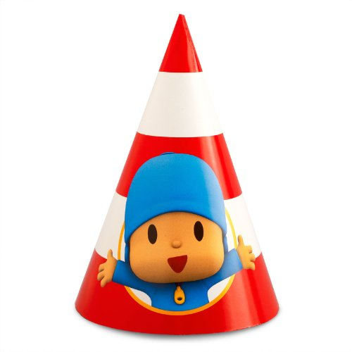 Pocoyo Party Supplies - Cone Hats (8) - Pocoyo Costume