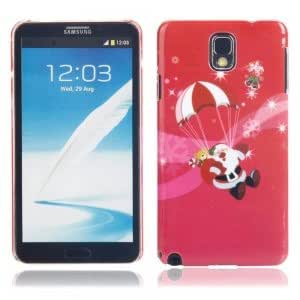 Christmas Series Plastic Protective Case with Red Parachute Pattern for Samsung Note3