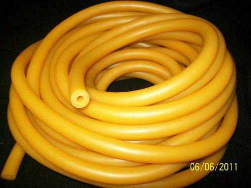 10 Continuous Feet 1/4'' I.D x 3/16'' Wall x 5/8'' O.D Latex Rubber Tubing Amber by Latex Tubing By Montree Shop