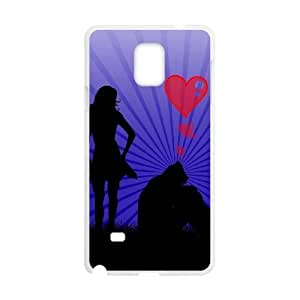 Samsung Galaxy Note 4 N9108 Cases Cell phone Case Boy and girl 's love Eghmx Plastic Durable Cover