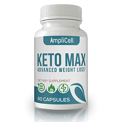 Keto Pills - Advanced Weight Loss Supplements w/carb Blocker - Keto Weight Loss Pills to Burn Fat Fast - Boost Energy and Metabolism - Amplicell Keto Diet Pills