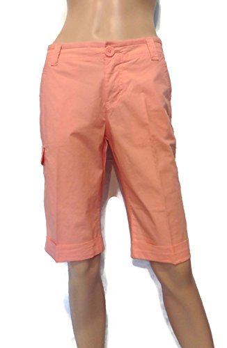 - DKNY Jeans Women's Stretch Fabric Bermuda Shorts Coral Size 2
