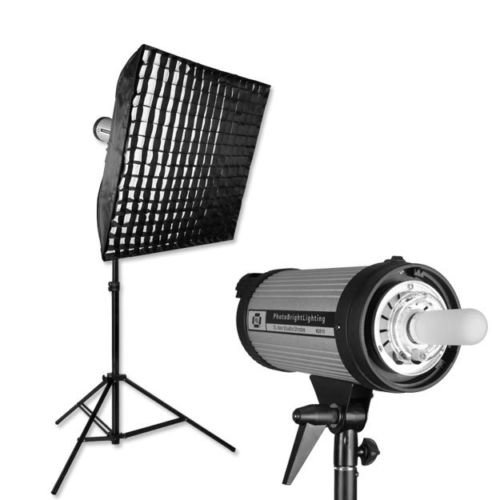 PBL Studio Photo Light Kit 24in x 24in Softbox Grid 200 w/s by PBL