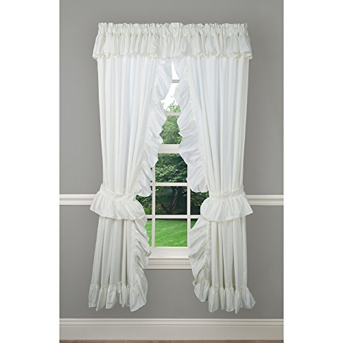 - Priscilla Classic Rod Pocket Curtain Panel Pair (Natural, 84