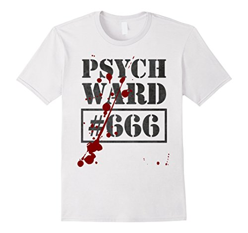 Mens Psych Ward T-Shirt Inmate Funny Escaped Jail Blood Splatter Small (Halloween Blood Splatter Clothes)