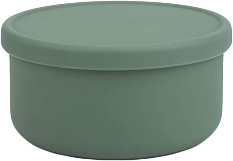 Dailylike BONBON Silicone Baby Food Storage Freezer Containers with Lids | Airtight, Leakproof Food Jars for Babies & Infants | Dishwasher, Microwave, Refrigerator Safe, BPA Free (23.67oz, Deepgreen)
