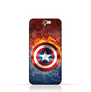 HTC One A9 TPU Silicone Protective Case with Shield of Captain America Design