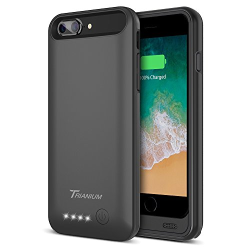 "iPhone 8 Plus/7 Plus Battery Case, Trianium Atomic Pro 4200mAh Extended 8 Plus Battery Portable Charger For iPhone 7 Plus,8Plus (5.5"")[Black] Power Juice Charging Case Pack [Apple Certified Part] by Trianium"