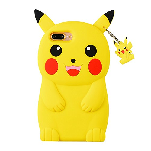 Joyleop Pikachu Case for iPhone 5 5C 5S SE 5G,Cute 3D Cartoon Animal Cover,Kids Girls Lady Cool Fun Soft Silicone Gel Rubber Kawaii Character Unique Cases,Fashion Shell Skin Protector for iPhone5
