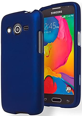 Samsung Galaxy Avant G386T Hard Cover Two-Piece Snap On Case (Noble Blue) (Samsung Galaxy Core Lte Case G386)