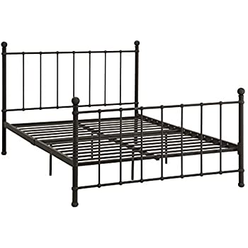 Amazon Com Dhp Brickmill Metal Bed With Headboard And
