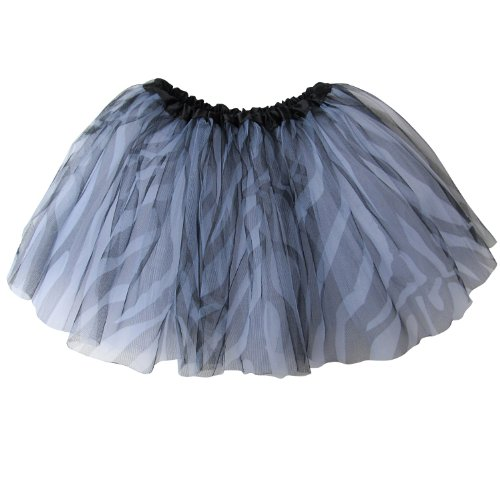 [Ballerina Basic Girls Dance Dress-Up Princess Fairy Costume Dance Recital Tutu (Zebra)] (Little Zebra Girls Costumes)