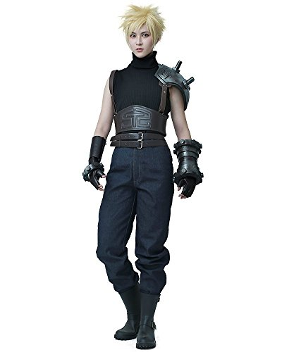 miccostumes Men's Remake Cloud Strife Cosplay Costume MM Black -