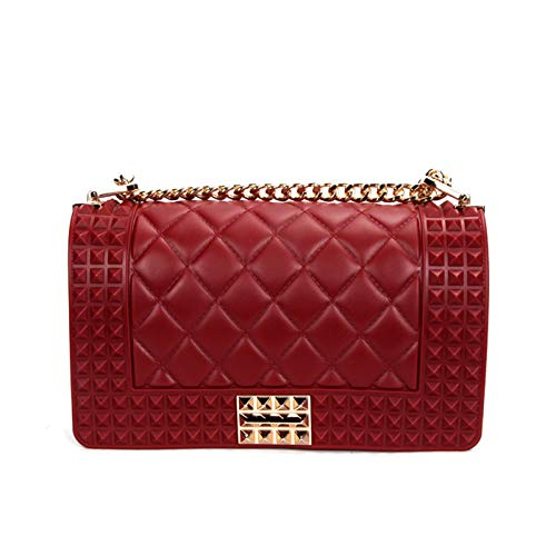Small Fragrance Package WEII Bag Rhombic Women's Western Small Fashion Chain Red Jelly Slung Shoulder 1gFHFxq