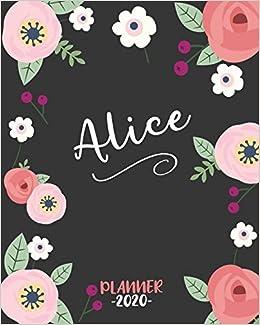 Alice: Diario Agenda Settimanale Datato con Calendario, Date ...