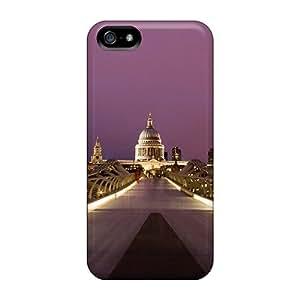 lintao diy Flexible Tpu Back Case Cover For Iphone 5/5s - Millennium Bridge London