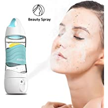 Humidifier Sports Water Bottle 400ML, Kuokel Beauty Spray Sport Cup with Smart DIDI Voice Prompts LED Light SOS Alarm Remind Drink Ultrasonic Air Aroma Diffuser Mist Maker Replenishing