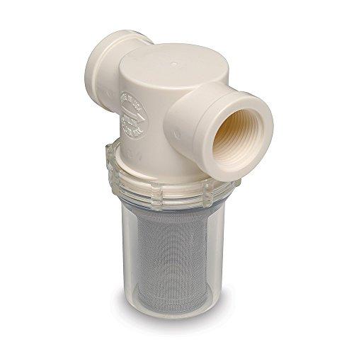 Shurflo 1 Raw Water Strainer W Bracket   Fittings   50 Mesh