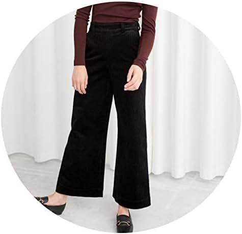 Wide Leg Pants Office Trousers Casual Flat Mid Solid Women Pants Streetwear Female Pants