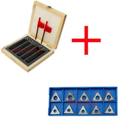 HSS Triangle Inserts 3 Piece 3//8 Indexable Turning Tools