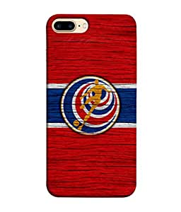 ColorKing Football Costa Rica 11 Red shell case cover for Apple iphone 8 Plus