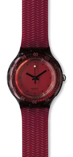 Swatch Scuba Red Wood Unisex Watch SDR100