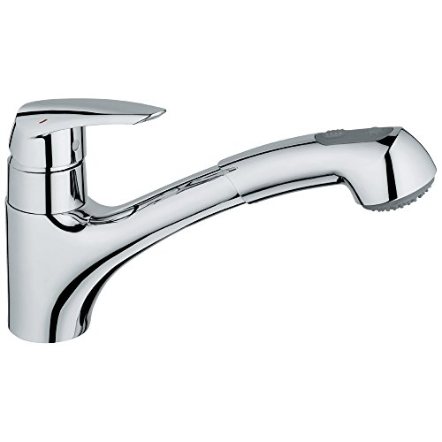 Swivel Faucet Grohe - Eurodisc Single-Handle Pull-Out Kitchen Faucet