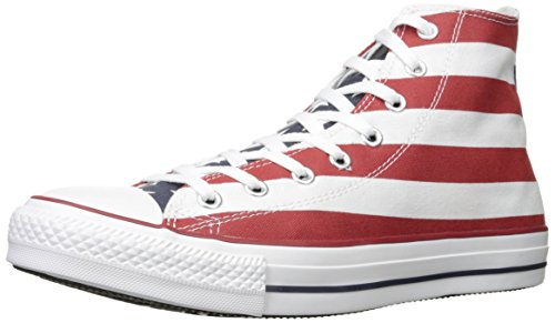 Converse Unisex Chuck Taylor Stars and Bars White/Blue/Red Sneaker (7 Men/Women 9)