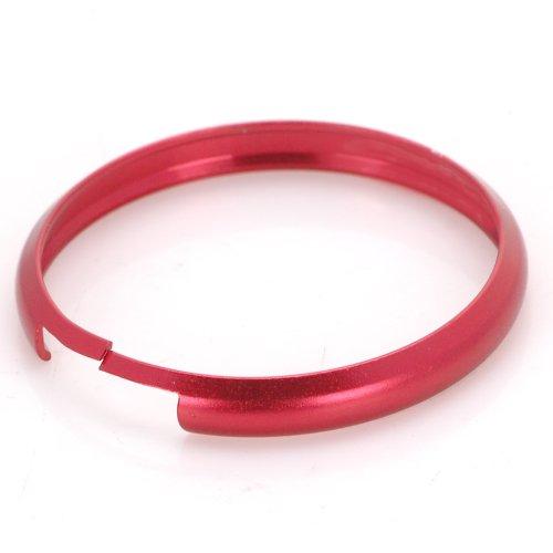 Fashion For Mini Cooper Smart Key Fob Ring Rim Trim Cover Surround Replacement Red Aluminum