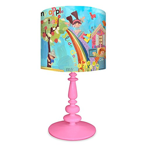 Oopsy Daisy NB14934 Say Say Oh Playmate on Resin Pink Base Table Lamp, 21