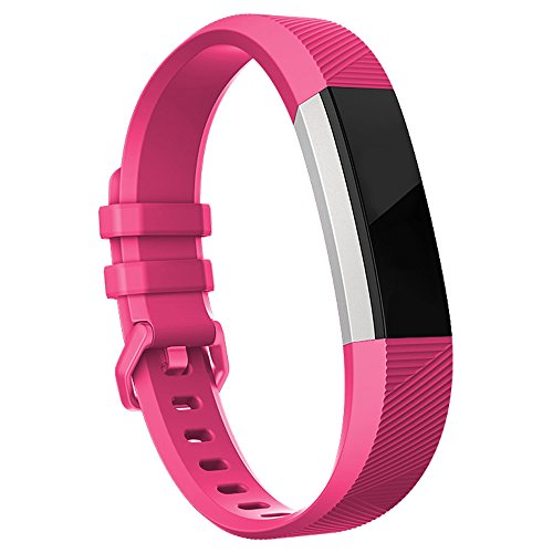 Hot Pink Design - Fitbit Alta HR Bands-Fitbit Alta Bands-Hot Pink Small,RedTaro Adjustable Replacement Accessory Bands/Straps/Bracelets for Fitbit Alta HR/Fitbit Alta for Women/Men(no Fitbit Fitness Trackers)