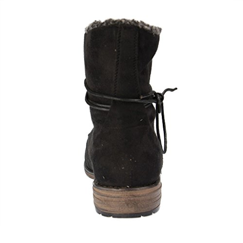 FITTERS FOOTWEAR - Hanna - Damen Booties - Schwarz Schuhe in Übergrößen