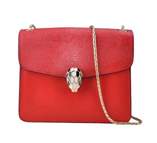KYOKIM Mini Dames Sac à Main Décontracté Petit Sac épaule Messenger Bag Portefeuille Red