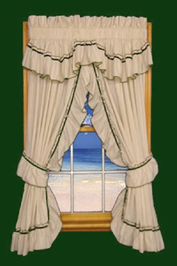 Jenny Country Ruffle Priscilla Curtains Pair 86-Inch-by-6...