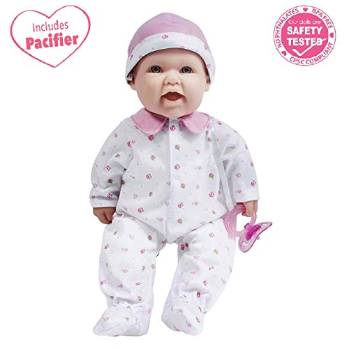 41hjeIKJHWL - JC Toys, La Baby 16-inch Pink Washable Soft Baby Doll with Baby Doll Accessories - for Children 12 Months and Older, Designed by Berenguer