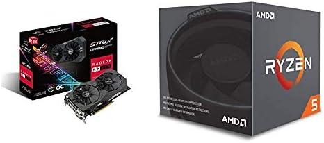 Pack gráfica ASUS y Procesador AMD: ROG-STRIX-RX570-4G-GAMING y R5 2600X: Amazon.es: Informática