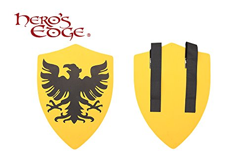 SwordMaster - Thick Foam Medieval Royal Crusader Eagle Foam Shield for Cosplay and Larp New (Medieval Foam Larp Shield)