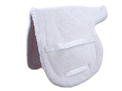 Pad Show - Derby Comfort Quilt Close Contact Fleece English Saddle Pad, White