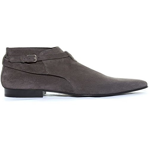 jinfu Chelsea Boots Mens Suede Gray Casual Dress Ankle Boots Formal Shoes (US 9.5) p2SOFW24pJ