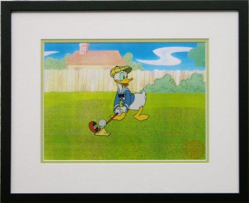 Walt Disney Limited Edition Animation Cel Donald Duck Golf, Framed, DC-DD-03F
