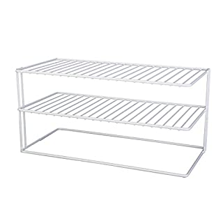 Panacea Grayline 40126, Large Two Shelf Organizer, White