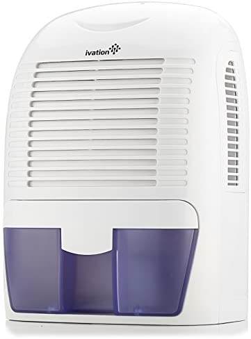 Ivation GDM30 Powerful Mid-Size Thermo-Electric Dehumidifier - Quietly Gathers Up to 20oz. of Water per Day - for Spaces Up to 2,200 Cubic Feet
