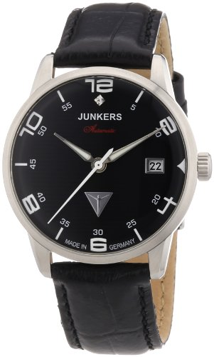 Junkers Women's Automatic Watch Wellblech Flatline Automatik Cal. 9015 63652 with Leather Strap