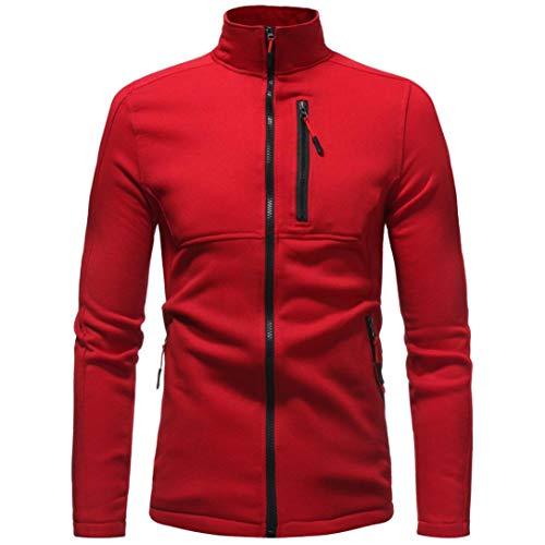 Binmer Men's Autumn Long Sleeve Zipper Hooded Sweatshirt Sweater Coat Top (XL, ()