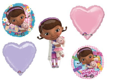 LoonBalloon DOC McStuffins Mc Stuffins Princess (5) Mylar Birthday BALLOON Bouquet Set Kit]()