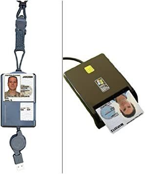Amazon.com: sgt119 Smart Badge CAC ID soporte & retráctil ...